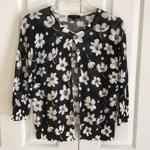 Ann Taylor Button Up 3/4 Sleeve Cardigan
